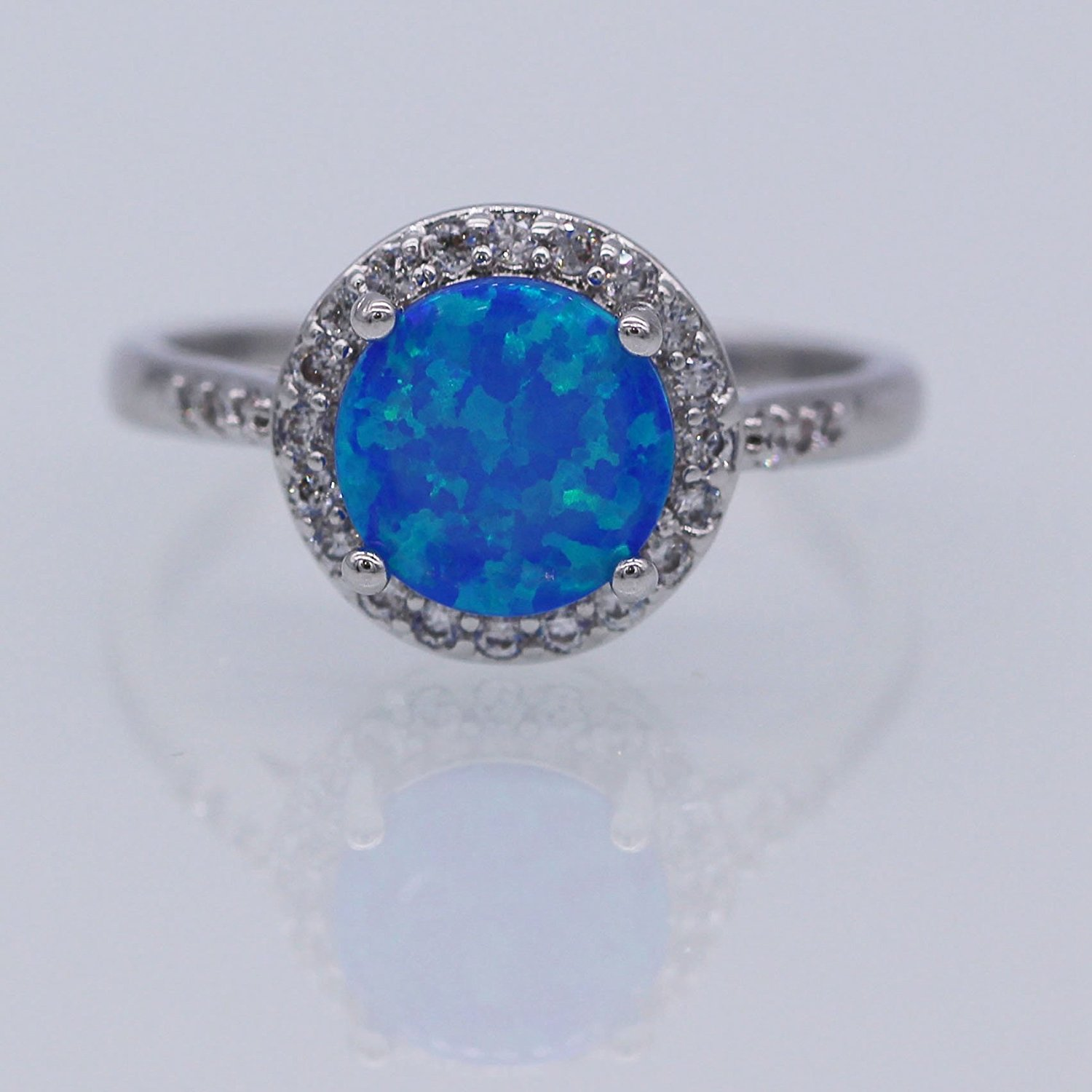 pave halo engagement amazon white dark blue diamond dp rings gold com ring