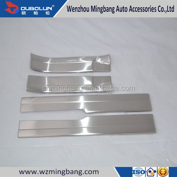 Stainless Steel Inner Door Sill Scuff plate for Ford Escape 2013 Ku-ga