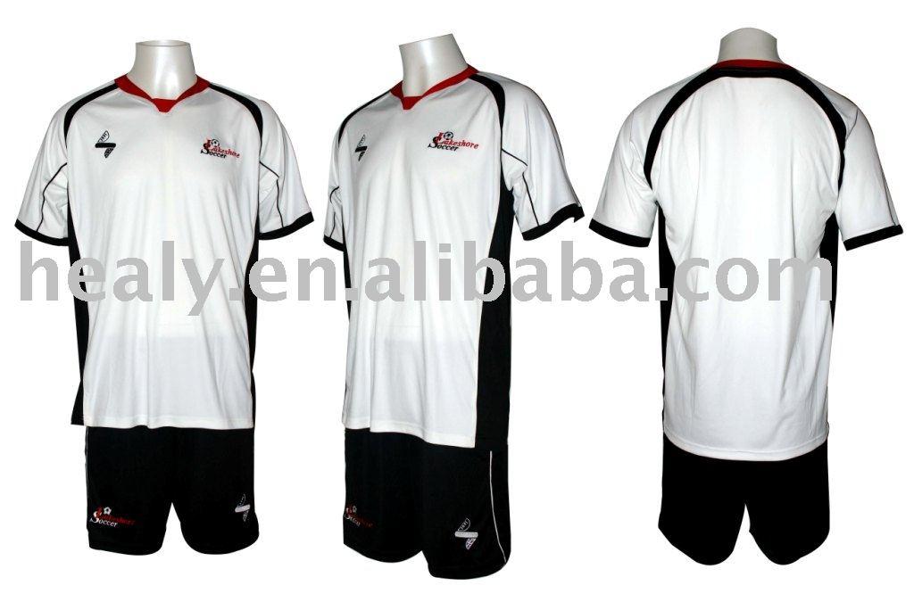 Blanco Y Negro De Encargo Jersey De Fútbol (uniforme) - Buy Product ...