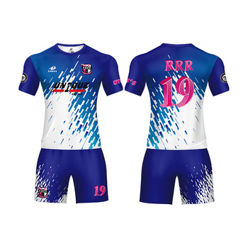 Wholesale cheap 100% polyester Mesh t-shirt team design football kits soccer  custom sublimated 6647d3bdd