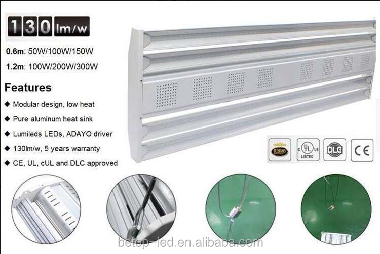 50W 60W 100w 150w 200w 300w1200mm linear led high bay light with ul,cul,dlc