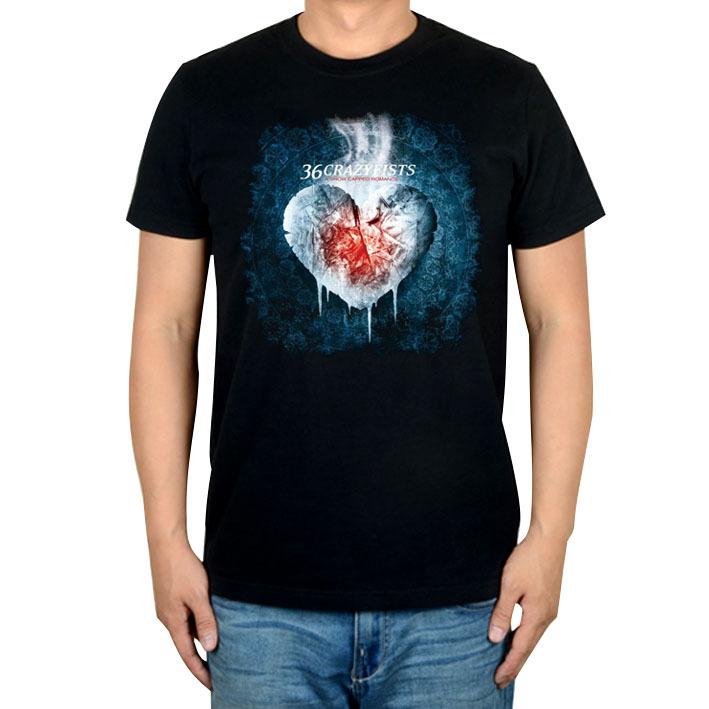 8624c1d5886 Get Quotations · Cute Cool 36 crazyfists Punk Rock Brand White Black shirt  3D Heart mma fitness 100%