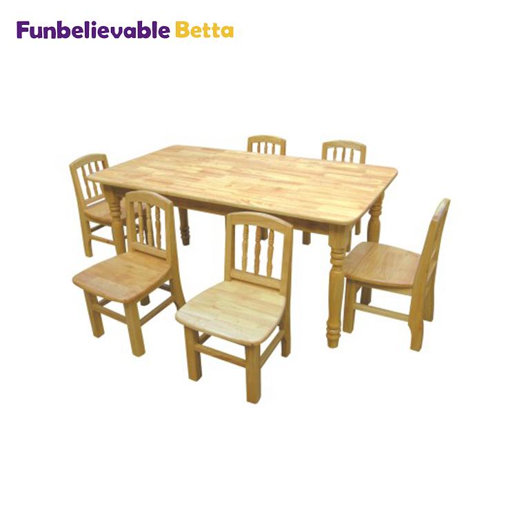 Children Wooden Table Chair