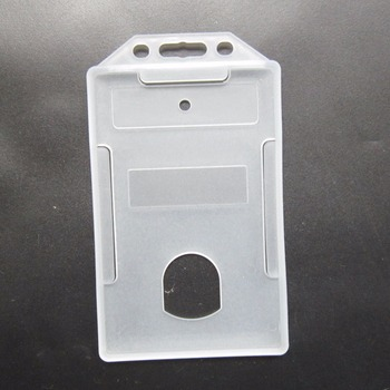 transparent rigid plastic id card holder with hanging hole - Plastic Id Card Holder
