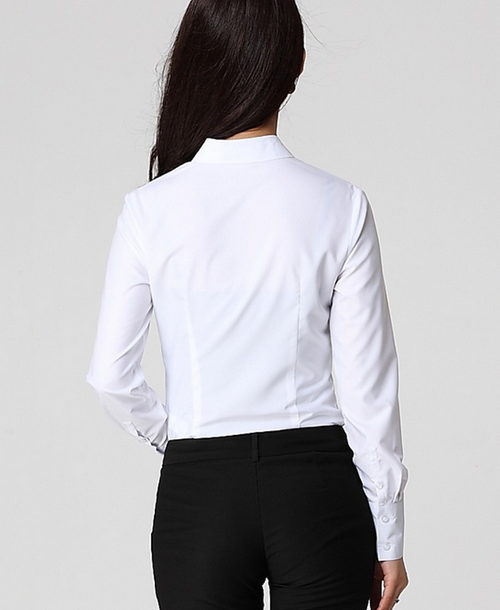Office Ladies White Shirt /ladies Office Shirt/ladies Formal Shirt ...