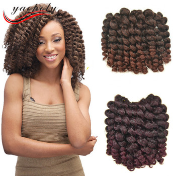 2x Value Synthetic Braiding Hair Bounce Short Ombre Model Wand Curl Crochet Twist Braid