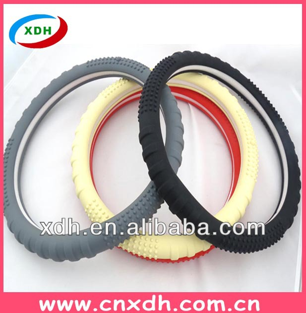 Clear car steering wheel cover