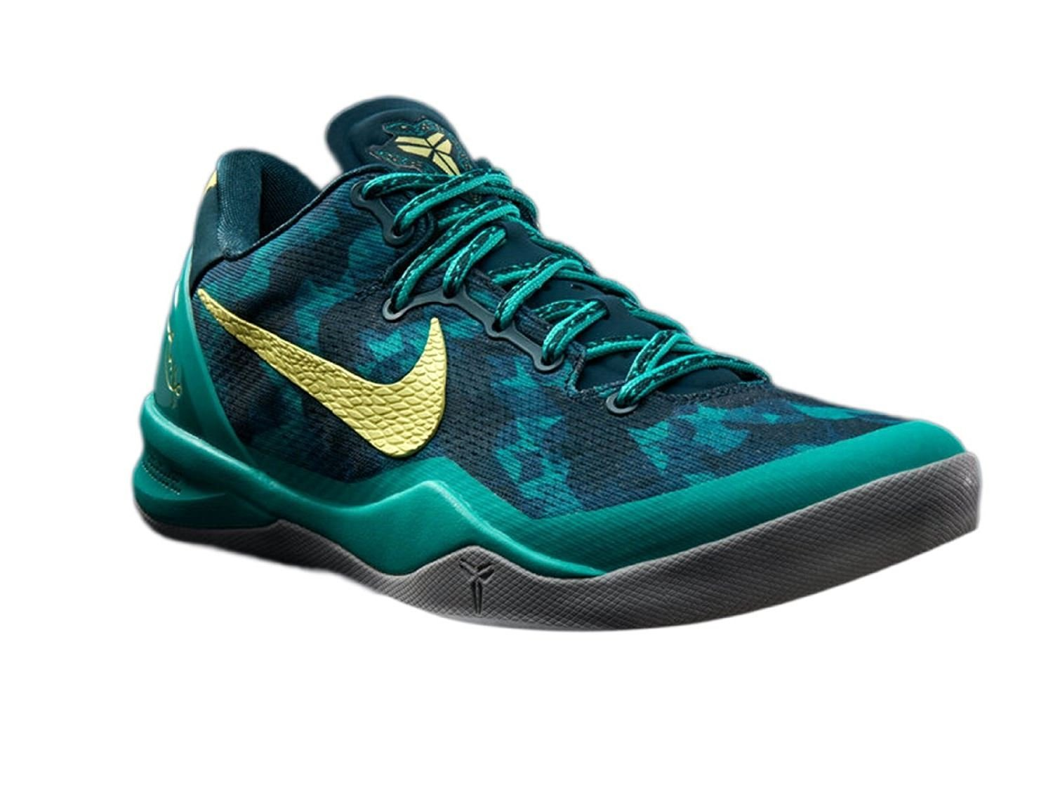 d98d2708203 Nike Men s Kobe 8 System+ Sport Pack Supernatural Edition Basketball Shoes  11 M US Teal Yellow