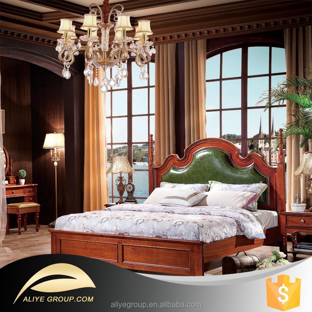 Venta al por mayor roble muebles camas dobles-Compre online los ...