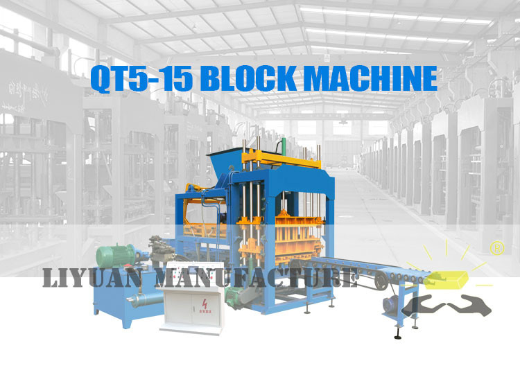 Automatic Cement Brick Qt5 15 Hydraulic Block Moulding