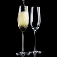 K-251195 Haonai Good quality crystal wine glass, clear champage glass Glassware Collection Lead Free Crystal Champagne Flutes