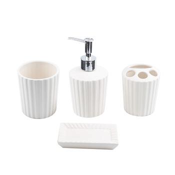 4pcs Set Soap Dispenser Dish