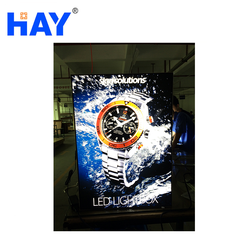 China manufacturer ellipse LED advertising running light box of good service