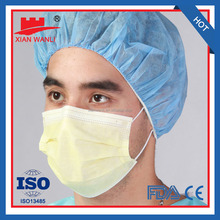 CE FDA NELSON approved blue ear loop non woven 3 ply disposable face mask 20+20+25g