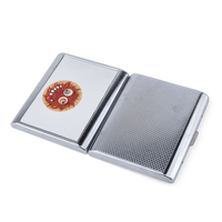 JL-161N ONUOSS with built in lighter holder tiger personalized e for men leather cigarette case with lighter holder