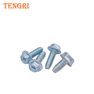 Cheap price M5 M6 Cross hexagon flange Thread Rolling Self-Tapping Screws