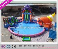 Crazy game 1000 ft slip n slide inflatable slide the city, giant water slide for summer