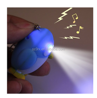 Penguin Luminous Sound LED Key Chain gift Toy/Customized Unique Animal shape LED Key Chain/OEM hot sale LED keychains Factory