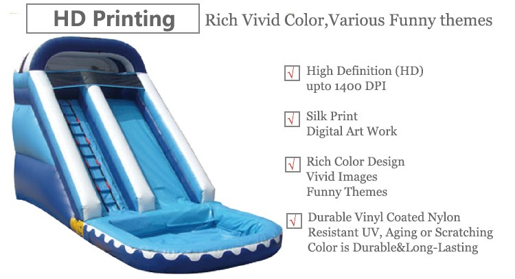 Up to 6 Kids Playground Inflatable Water Slide With Pool