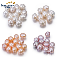 8mm AAA grade half drilled undrilled drop shape real cultured fresh water pearl loose wholesale freshwater pearls