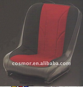 Low back front bucket seat