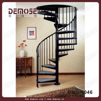Interior de hierro espiral escaleras de hierro forjado - Escalera en espiral ...