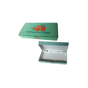 custom fried fish corrugated board packaging box