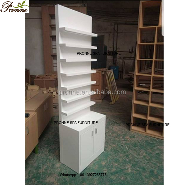 customize wood white beauty salon furniture nail polish <strong>stand</strong> for sale