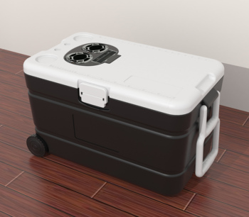 60L Cooler box | Bluetooth Speaker 20w| Bottle Opener | Cup Holder | wheeled |pull rod handle |Convenient Storage|compass and th