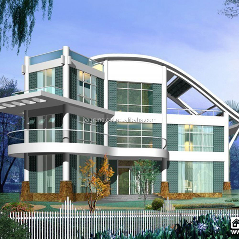 2015 modern design plan for steel structure house of traditional beach house