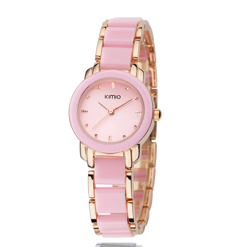 Марка кимио новый кварцевые часы женщины роскошные стальной браслет браслет часы Relogios Femininos наручные часы 455-2
