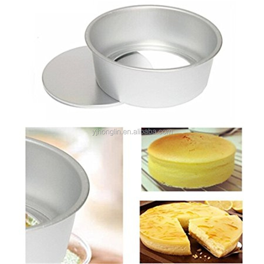 aluminum alloy 4 Inch removable cake mold chiffon round bottom cake pans