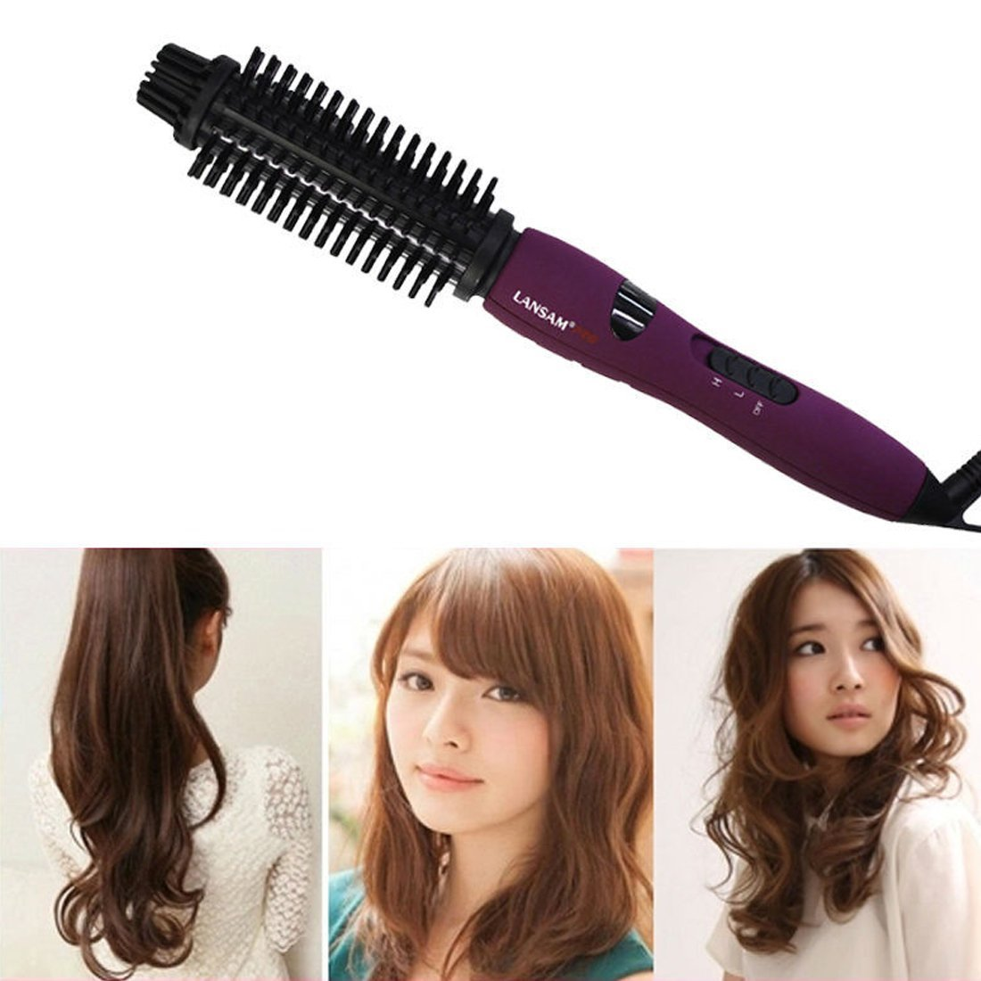 Get Quotations Longqi Beauty Hair Flat Straightener Iron Curler Irons Hot Brush Combs