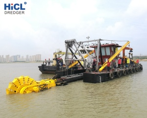 HICL dredger shipyard 14inch 2000m3/h cutter dredger suction/sand suction  dredger ships for sale(CCS certificate)