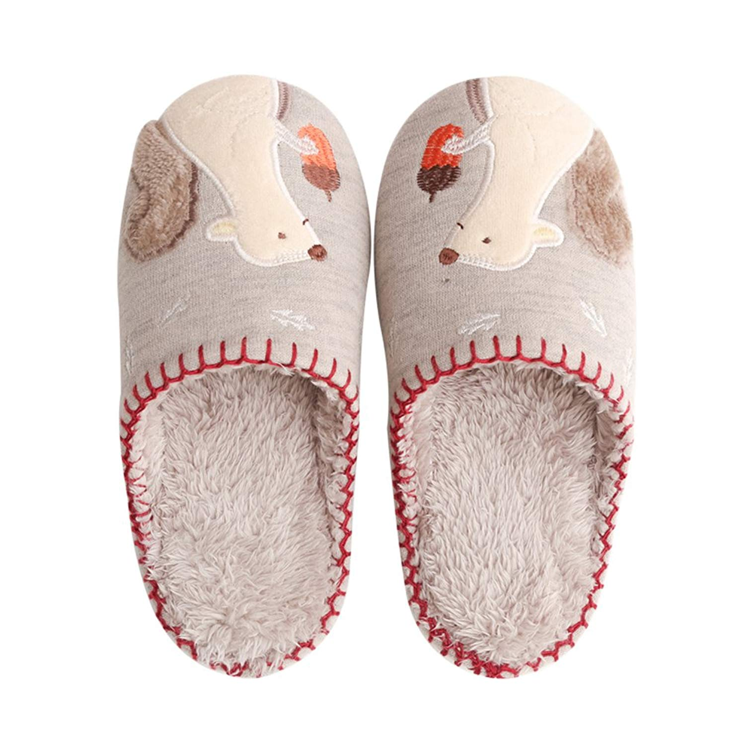 676620455c07 Get Quotations · Colias Wing Cuddly Squirrel Pattern Design Winter Soft  Cozy Warm Fleece Slippers House Slippers Warm Winter