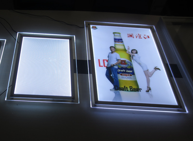 Acrylic Led Advertising Slim Display Panel For Exhibition
