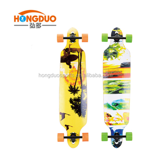 OEM Griptape and Transfer Longboard skateboard OEM wood long board skate board deck