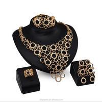 Fashion dubai gold jewelry set 24k Gold Color high quality costume jewelry