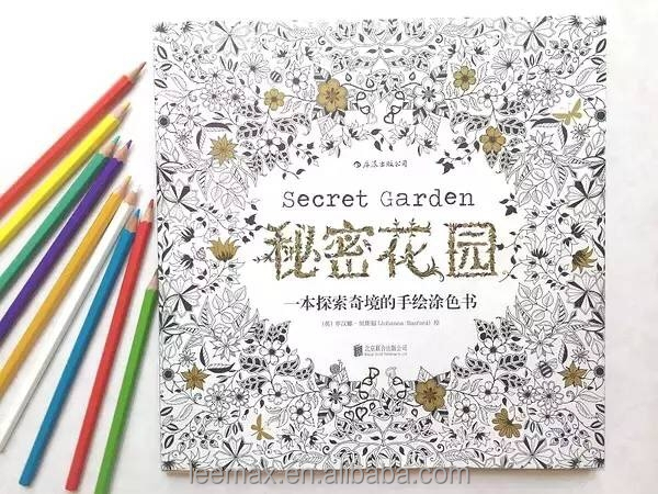 Secret Garden Customized Coloring <strong>Book</strong> with crayons Adult Coloring <strong>Book</strong>