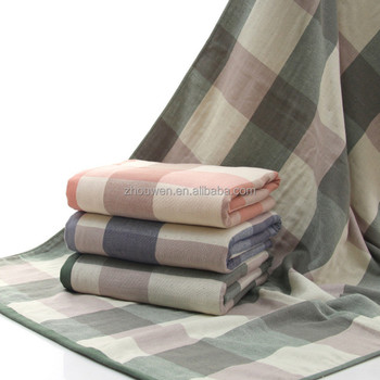 Standard Bath Towel Size Magnificent Checkered Standard Bath Towels Size 60x60 Cm 60% Cotton Buy
