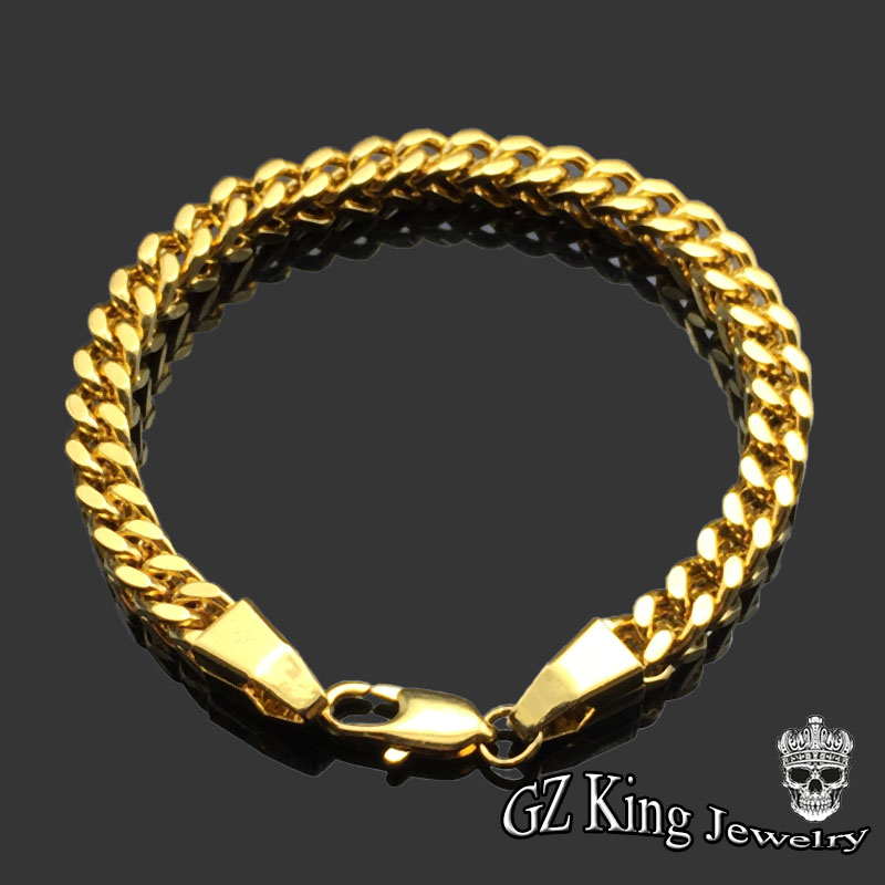 bracelet bracelets chain sq men product franco chains s yellow mens jsessionid images p gold fancy