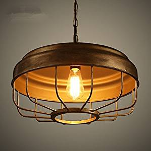 American Retro Dining Room Light Air Creative Single Head Hot Pot Table Antique Chandelier