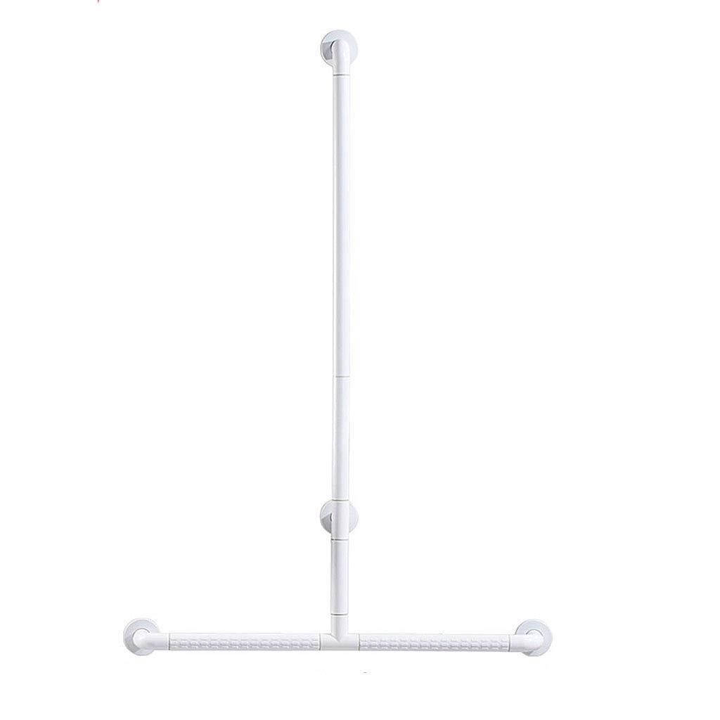 Li Wei Shop Shower handrail Bathroom handrail Non-Slip handrail Barrier-Free Shower Room Handle Anti-Skid Anti-Pressure Shower Stand Toilet Luminous Railing (Color : White, Size : 80120cm)