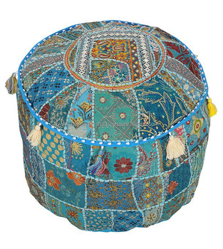 Fine Buy Indian Bohemian Patchwork Pouf Cover Vintage Indian Foot Stool Bean Bag Floor Pillow Pouf Buy Fabric Pouf Cushion Covers Home Stool Machost Co Dining Chair Design Ideas Machostcouk