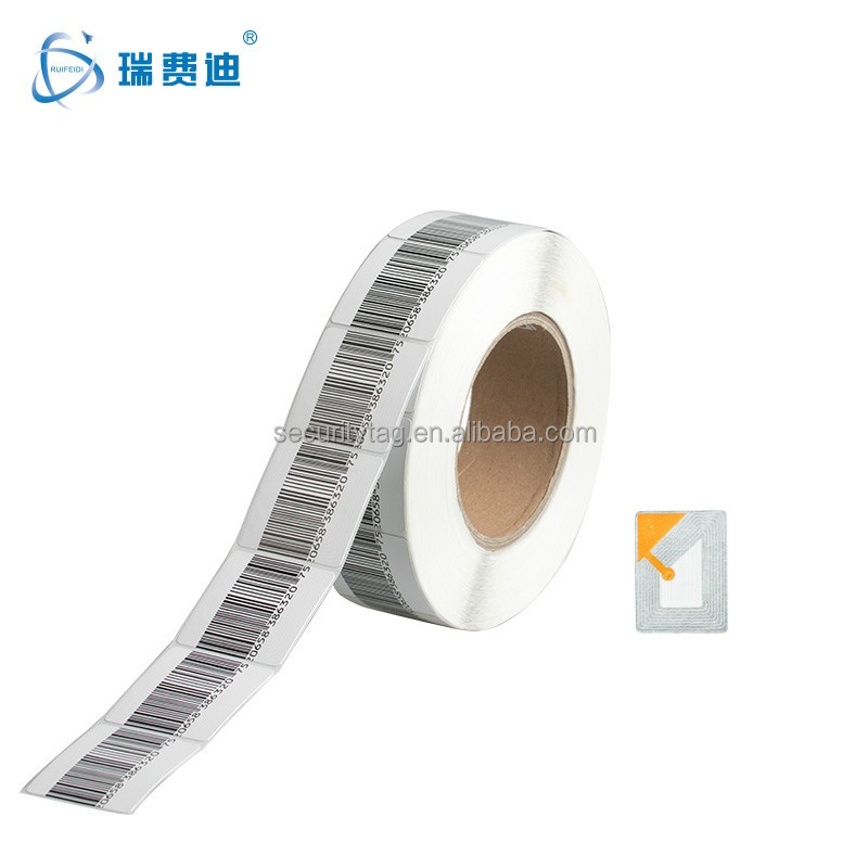 Multipurpose 3*4cm Blue Ink Color Mini Size Printing Eas Rf labels /Factory Supply