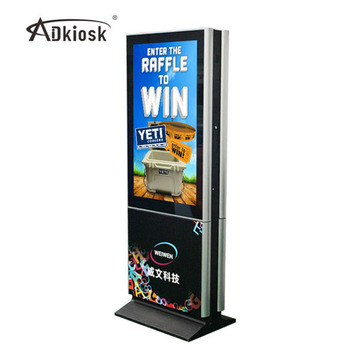 55 Inch Double Sided Lcd Vertical Advertising Monitor