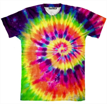 Tie dye sublimation printed t shirts tie dye printed t for Tie dye printed shirts