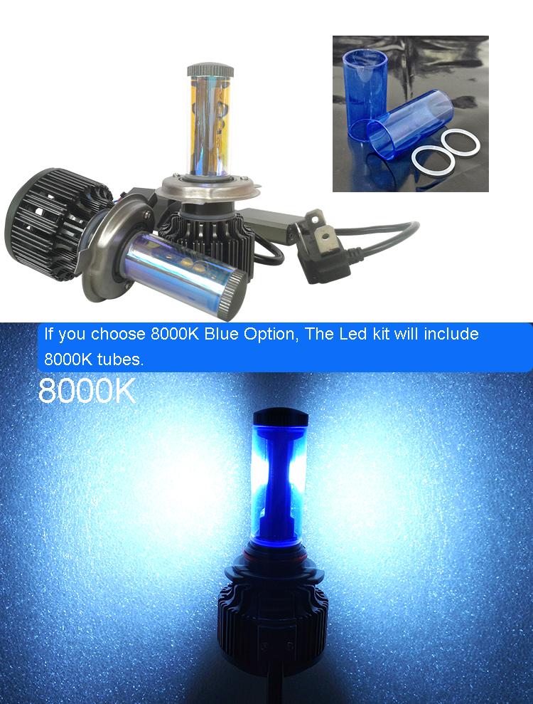 New H4 CREE LED Motorcycle Headlight Bulb 4000LM 40W HiLo 20W Low Beam Conversion Kit 3000K 4300K 6000K DC 12V P43T Headlamp (20)