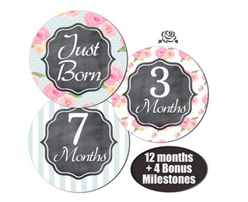 NEW Monthly Baby Stickers Baby Boy Month 1-12 Milestone Sticker