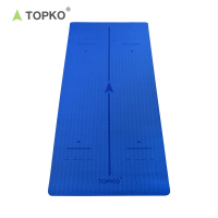 TOPKO high quality Eco Friendly full printing anti-slip TPE Yoga Mat
